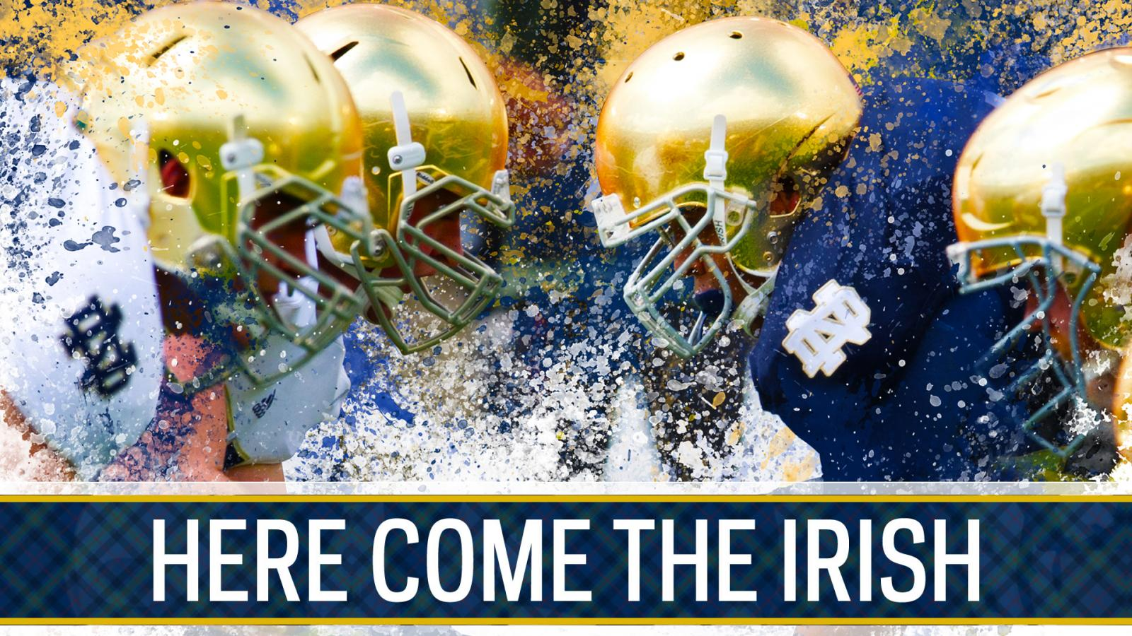 Notre Dame Fighting Irish Background In Gold And Blue Hd