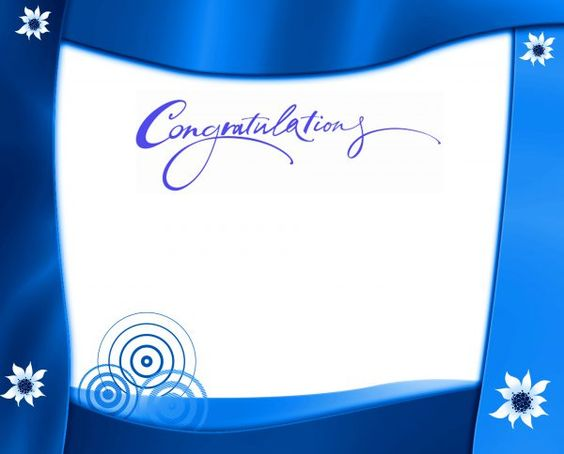congratulations picture frames with blue borders hd