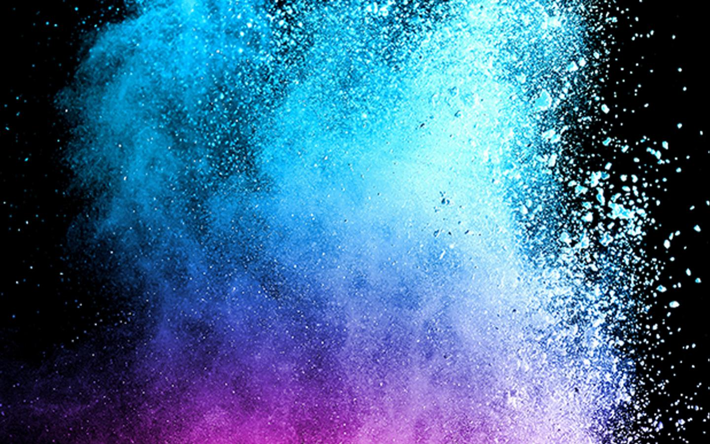 Hd Wallpaper For Samsung Galaxy J1: Abstract Colorful Powder With Dark Background For Samsung