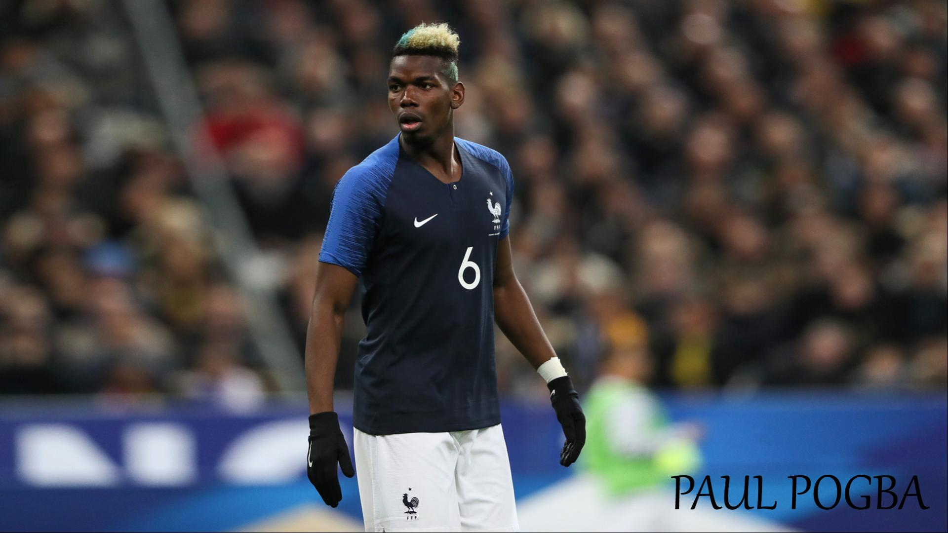 Paul Pogba With 2018 France Football Team Jersey For World