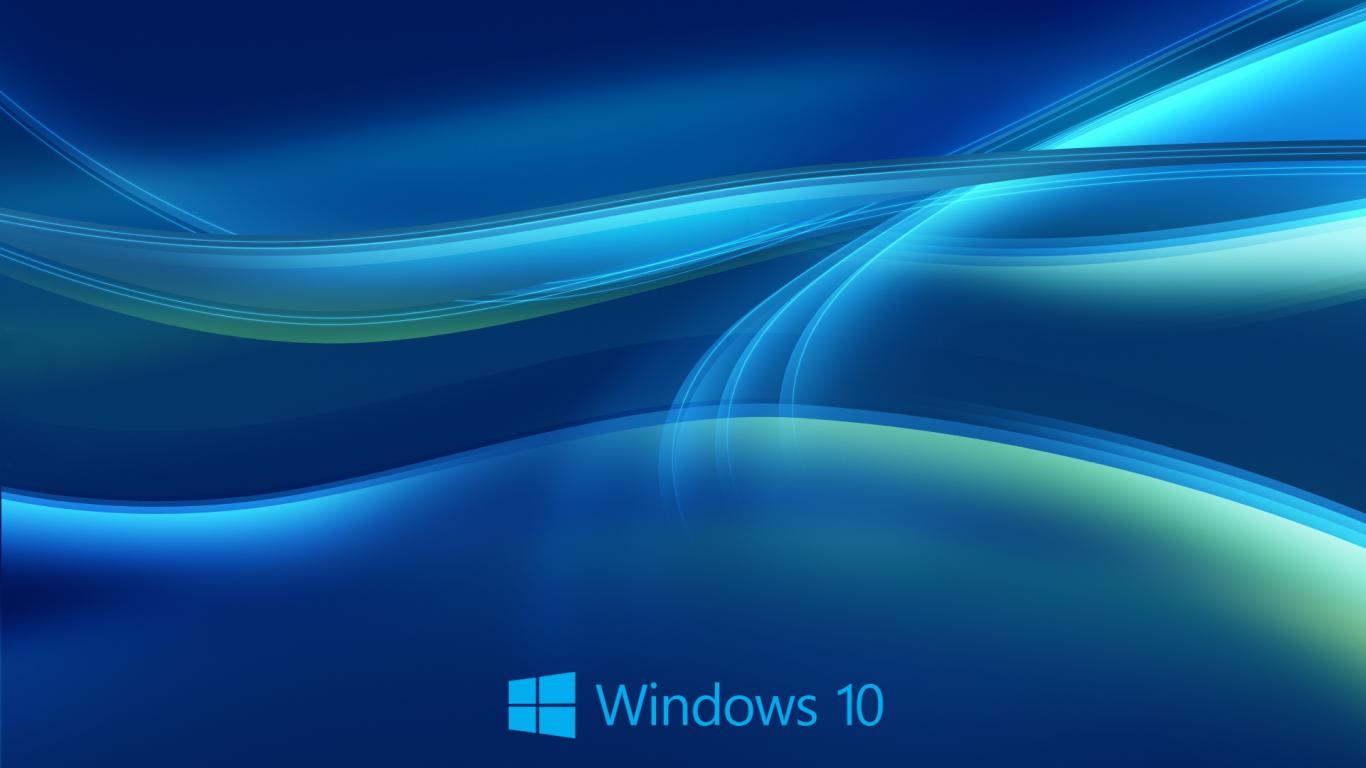 Windows 10 Wallpaper HD in Blue Abstract with New Logo   HD Wallpapers for Free