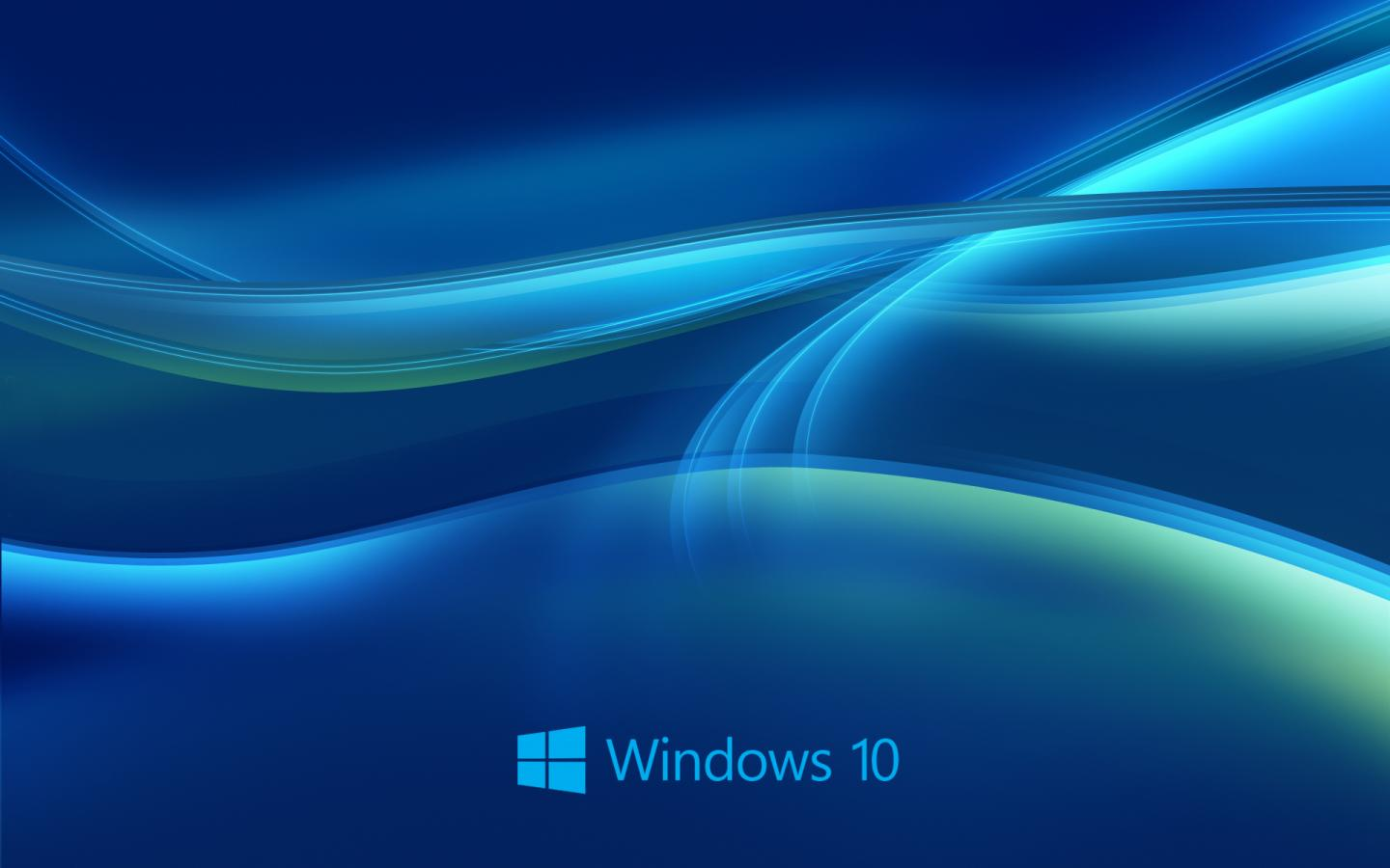 Windows 10 Wallpaper HD In Blue Abstract With New Logo