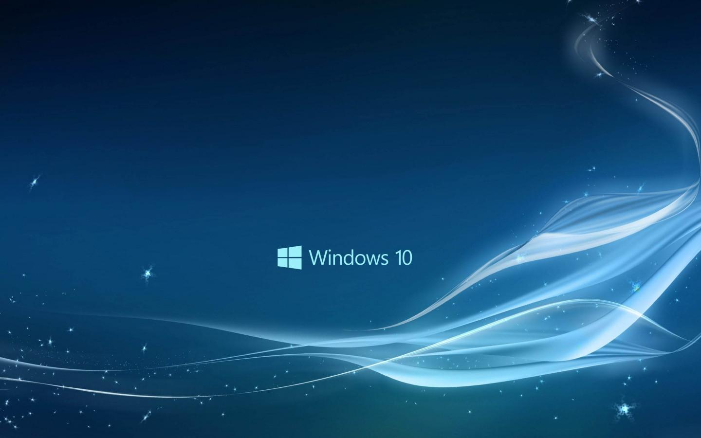 Windows 10 Wallpaper In Blue Abstract Stars And Waves Hd