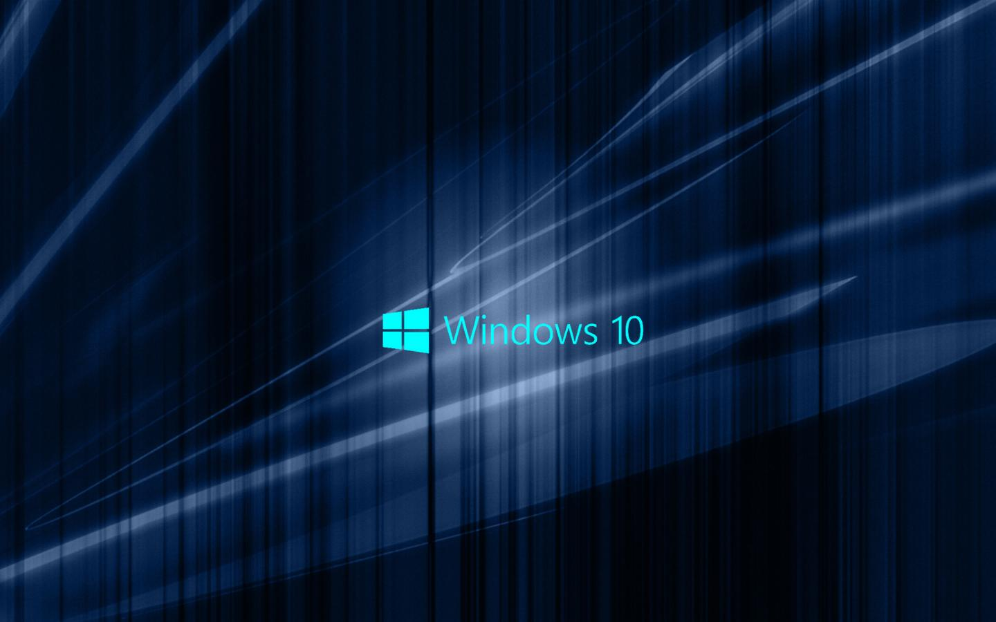 Windows 10 Wallpaper With Blue Abstract Waves Hd