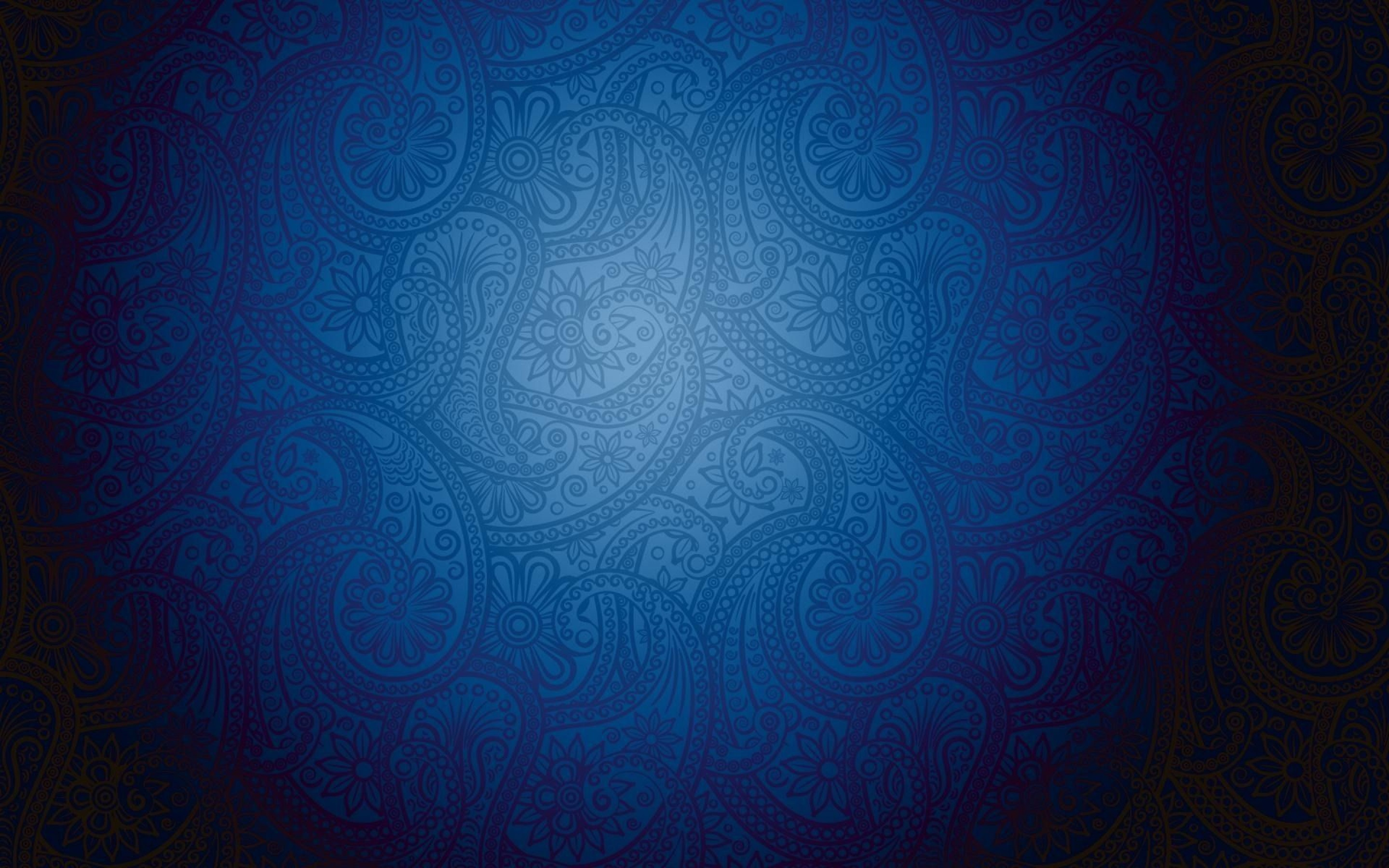 Artistic Blue Pattern Background with Modern Batik Motive : HD ...