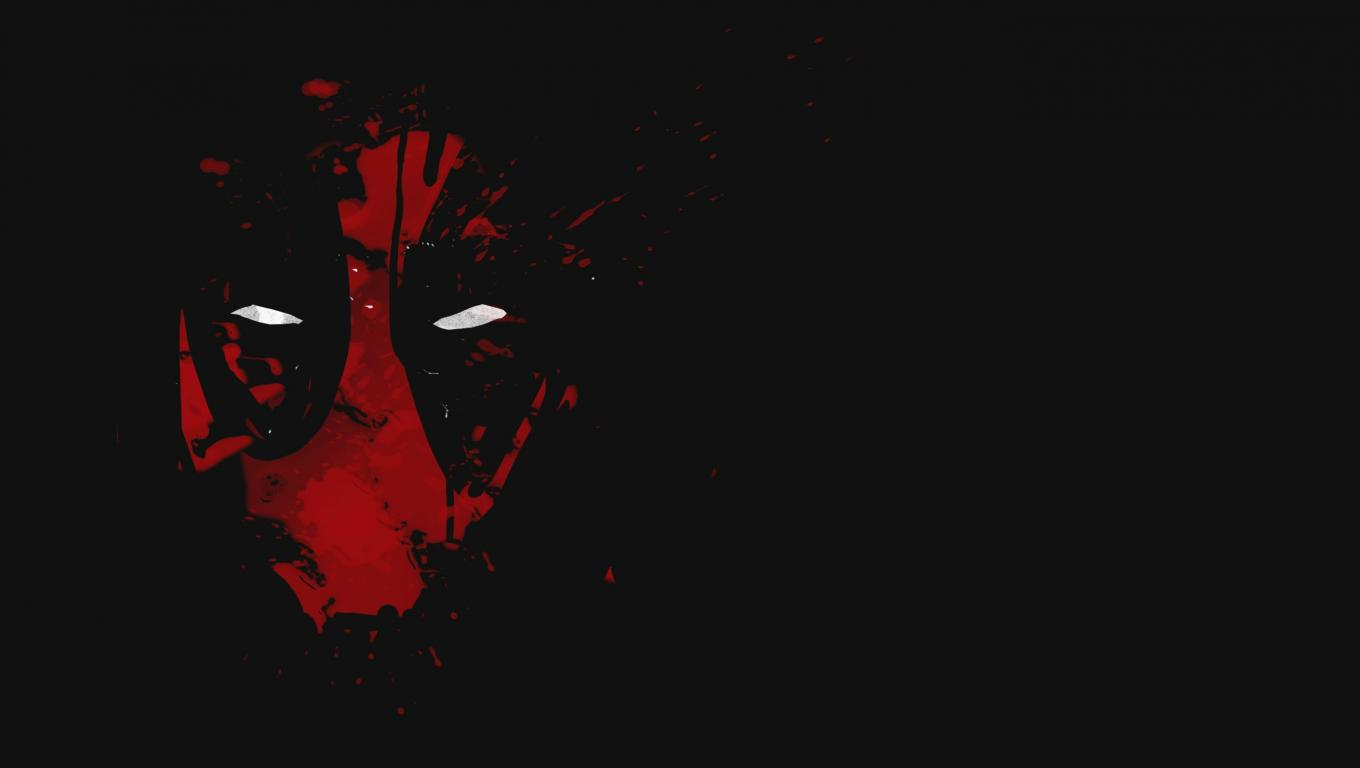 Cool deadpool wallpaper with red abstract mask with white - Deadpool black wallpaper ...