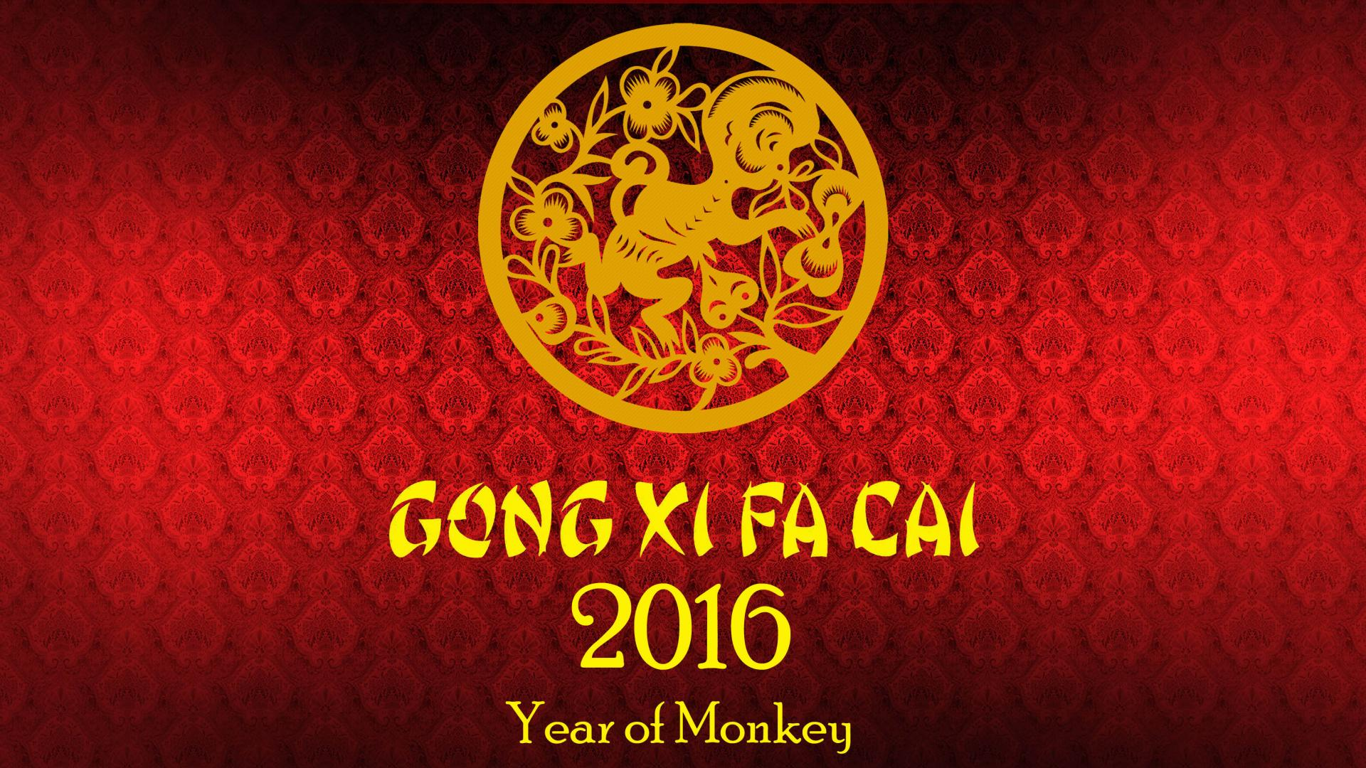 ... Fat Cai – Happy Chinese New Year 2016 Wallpaper – Year of Monkey