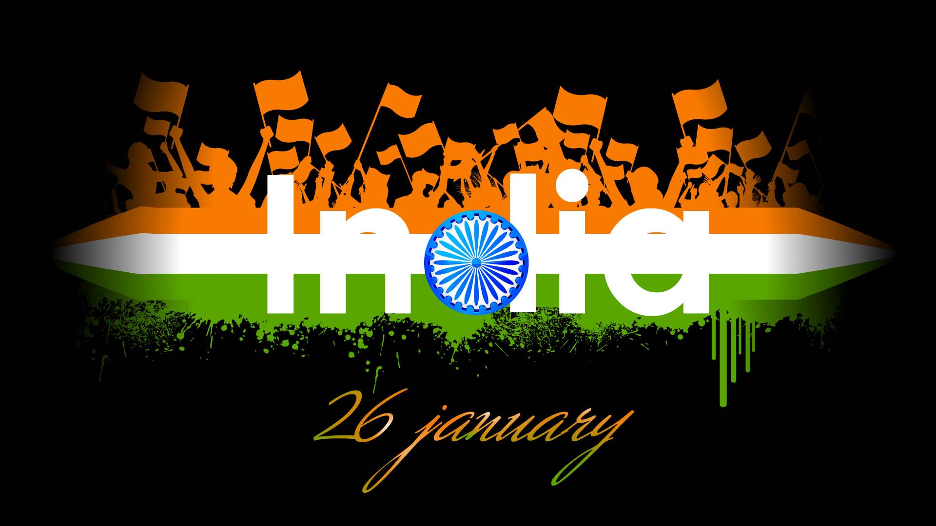 happy republic day in india with indian flag symbol | hd wallpapers