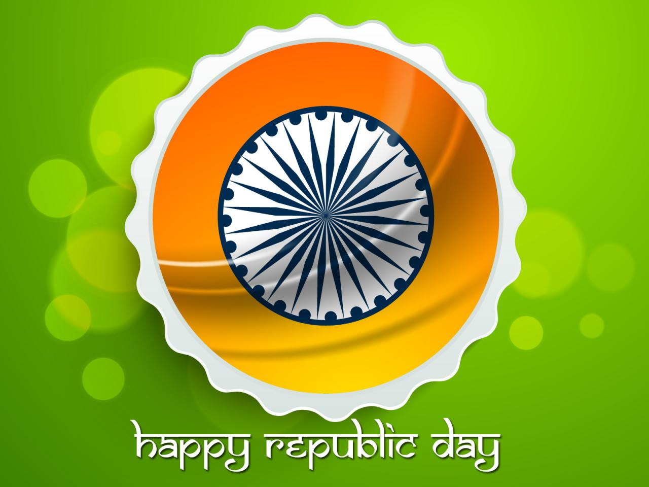 Indian Flag Tri Color For Happy Republic Day HD Wallpaper