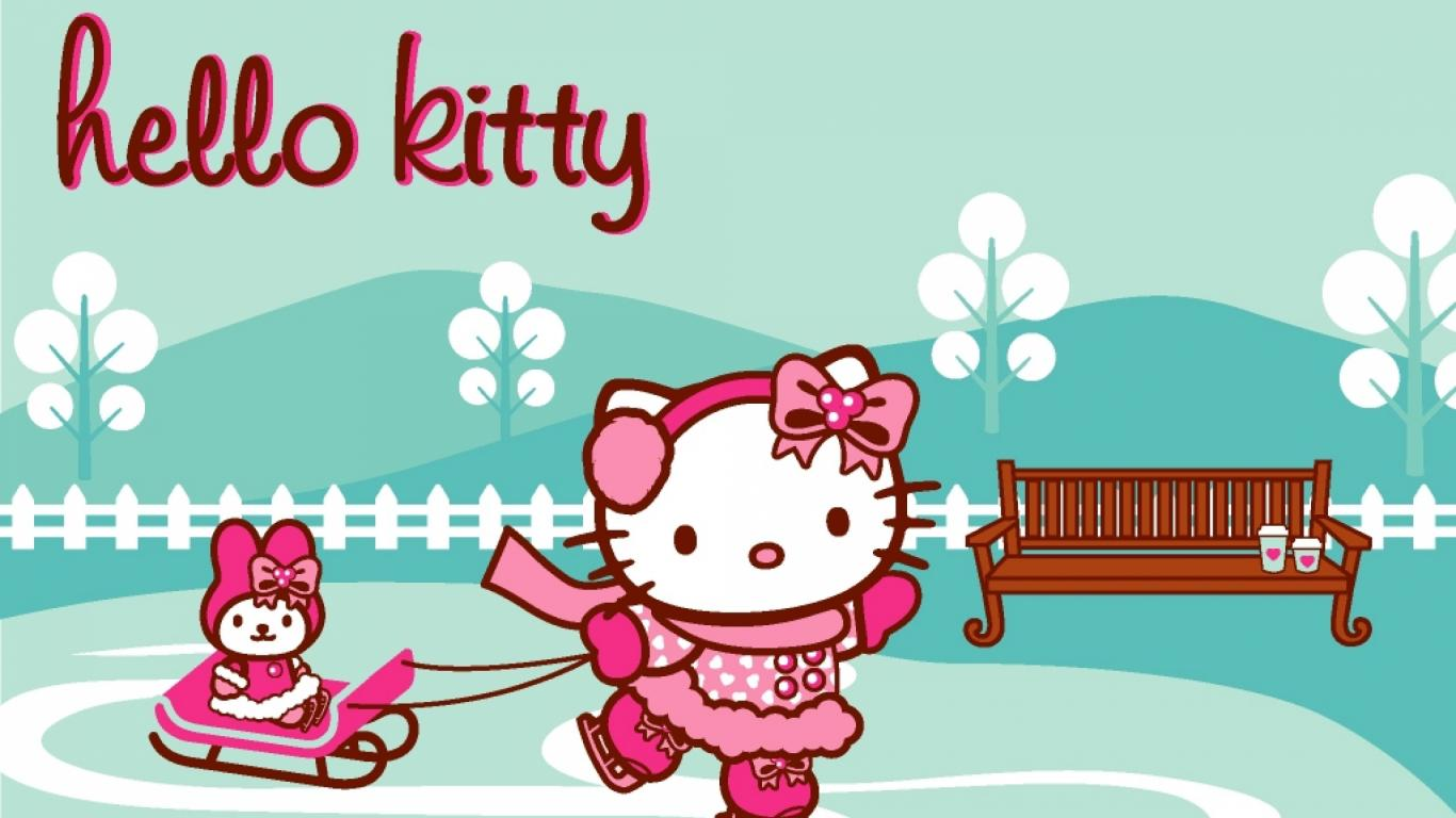 Picture Of Hello Kitty Wallpaper Blue And Pink With My