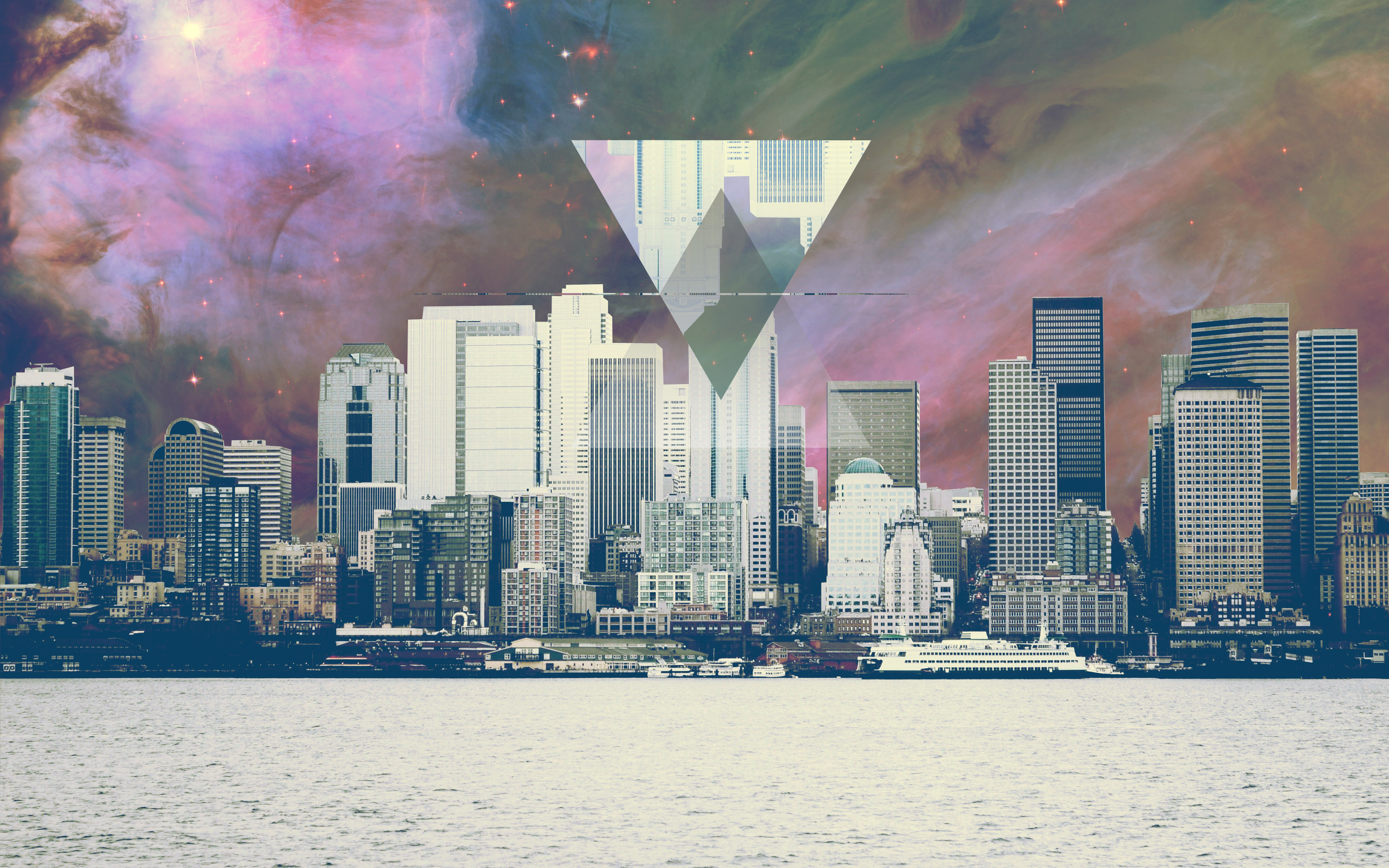 abstract laptop backgrounds with hipster style city