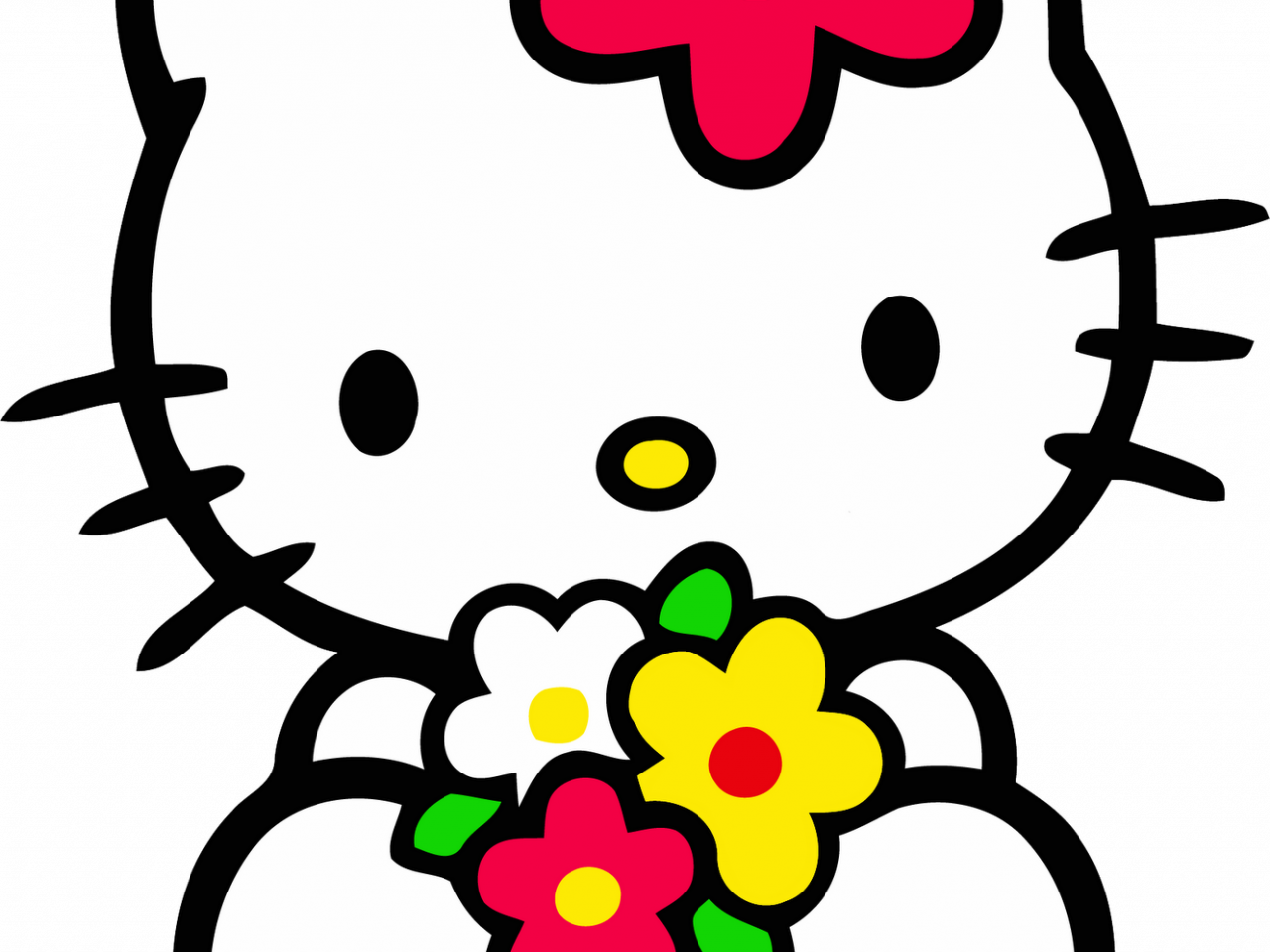 Hello Kitty PNG ClipArt with Flower in 1330x1600 Pixels ...