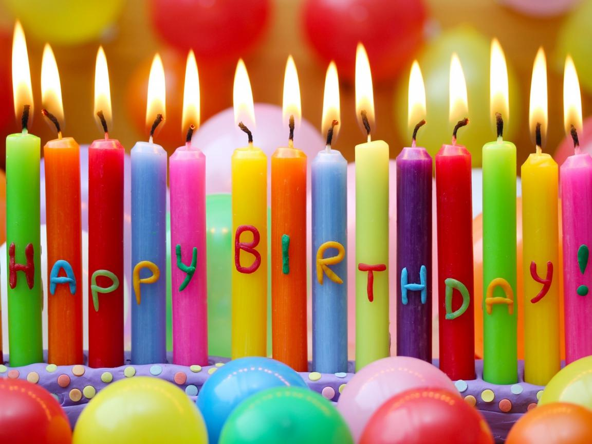 Creative Birthday Celebration Images With Colorful Candles