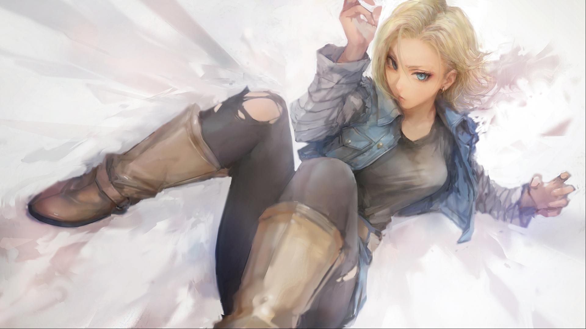 dragon ball z wallpaper 12 of 49 android 18 hd