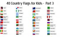 Attachment file to download for 40 country flags with names for kids - part 3