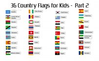 Attachment file to download for 36 country flags with names for kids - part 2