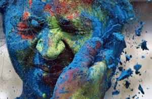 Indian festival Holi - about Holi festival : the Hindu festival of colors by spreading, smearing each other with colorful powder