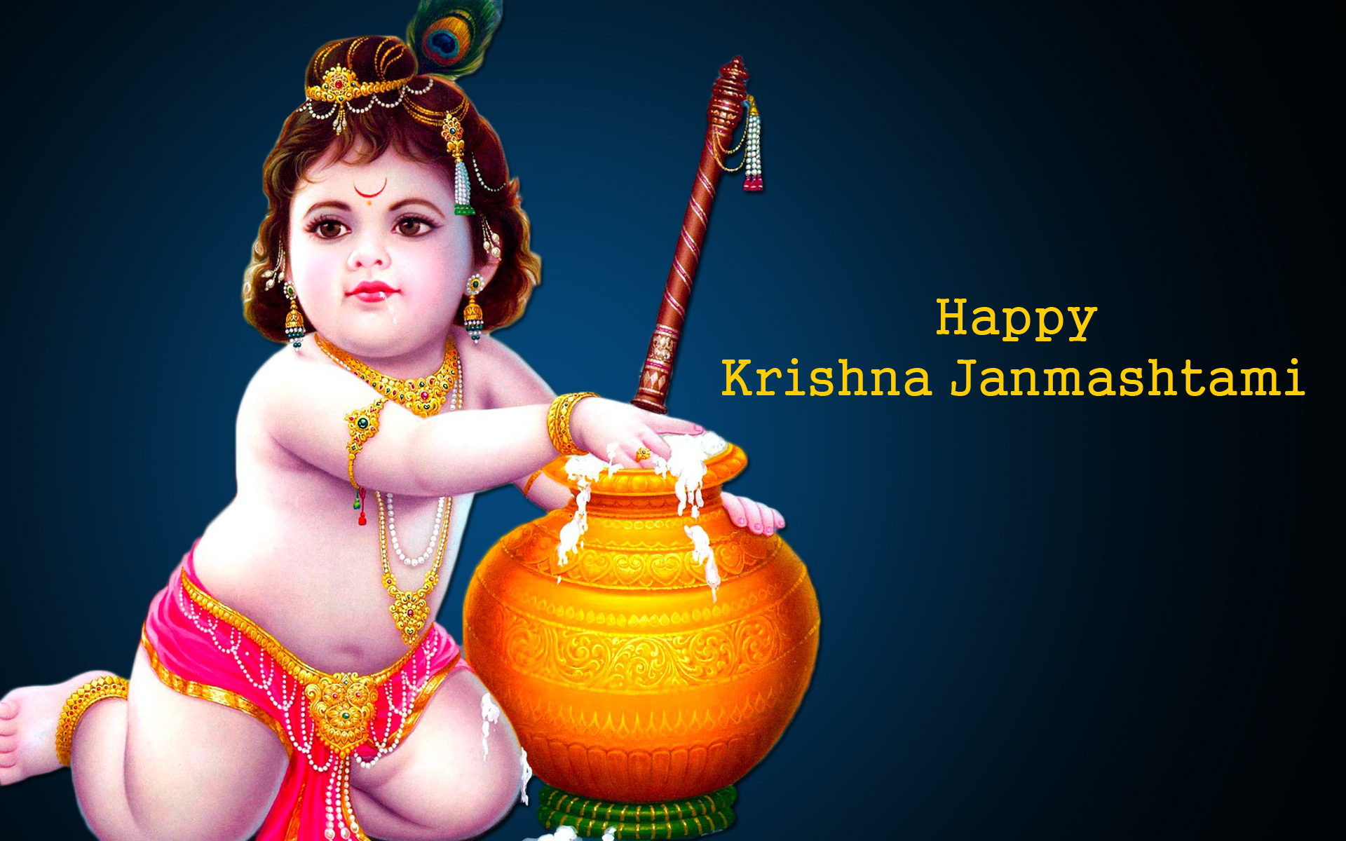 Happy Krishna Jayanti 2016 HD Wallpapers for free download