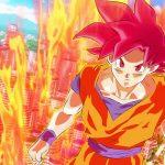 Dragon Ball Super Wallpaper - Songoku in Super Saiyan God Transformation