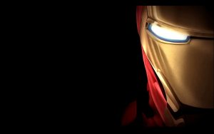 Cool Wallpaper with Iron Man Mask in Close Up