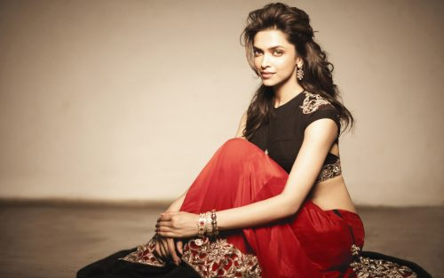 Deepika Padukone wears Red Saree/Sari in HD Wallpaper
