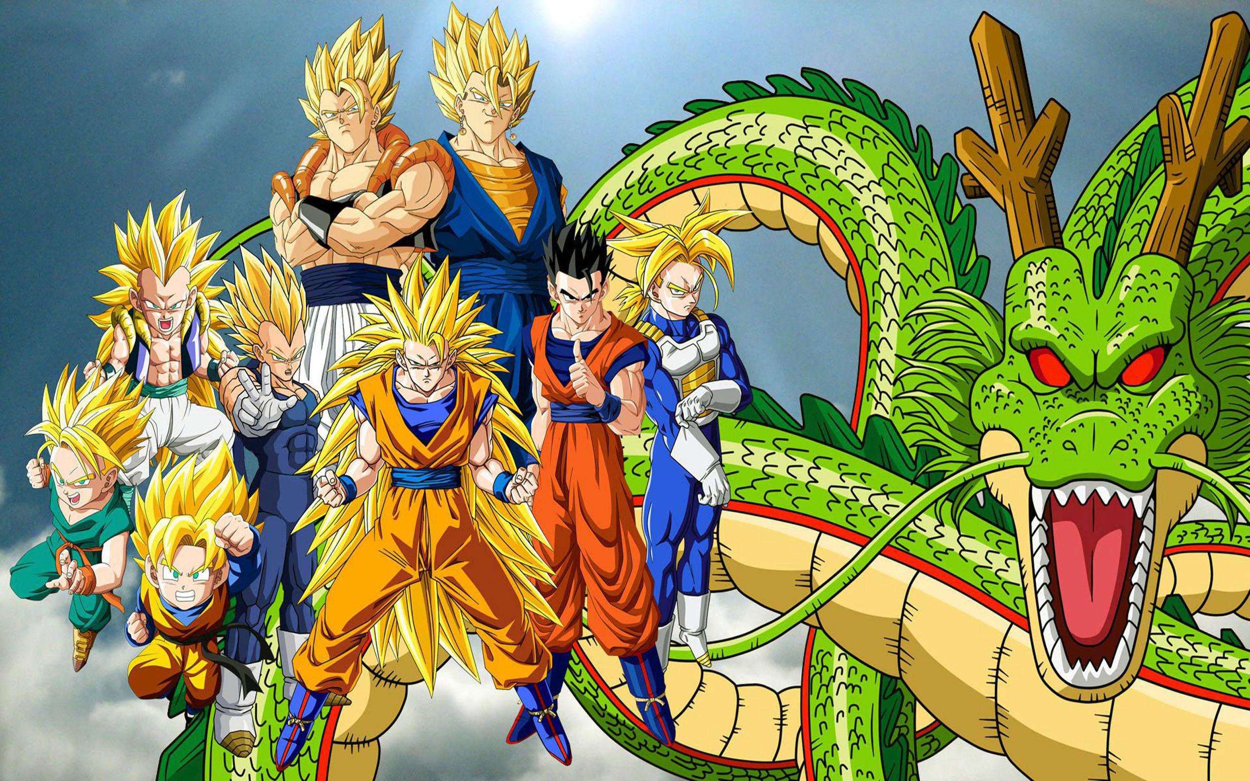 Dragon ball z super saiyan and shen long high resolution - Dragon ball z super sayen ...