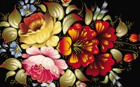 Picture of Abstract Art Desktop Wallpapers with Colorful Flower in 3D