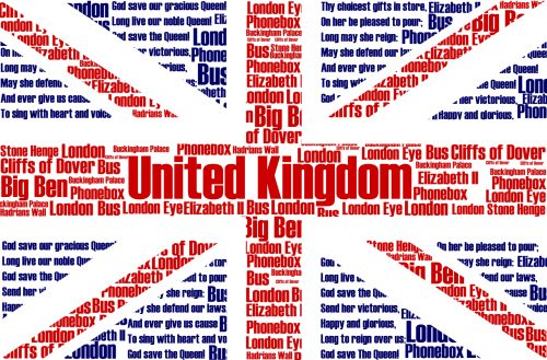 Artistic Union Jack Flag with Typography by Thomasdriver in Devianart. A creative picture to illustrate flag of United Kingdom