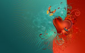 Artistic picture of love heart
