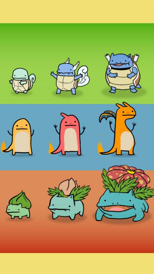 Funny Character of Pokemon on iPhone 7 for Wallpaper