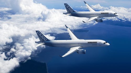 Image of Bombardier C Series CS300 CS100 in High Resolution