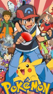 Pikachu and Ash Ketchum for Pokemon on iPhone Wallpaper