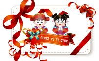 Gong xi Fat Cai 2019 Wallpaper with text for Chinese New Year