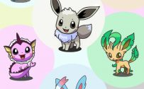Eevee and Eeveelutions Pokemon on iPhone Mode Wallpaper