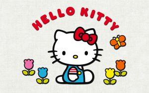 Attachment for Hello Kitty Hello Kitty Hello Kitty Wallpaper with Tulips