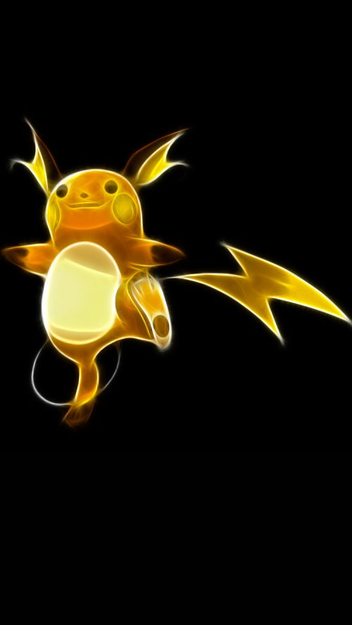 Picture of Raichu Pokemon on iPhone 7 Wallpaper