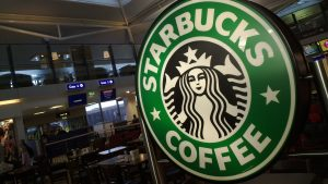 Starbucks Wallpaper with Logo at Coffee Shop Firm