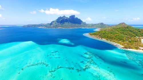 File attachment for Nature backgrounds download - Bora Bora Island in French Polynesia