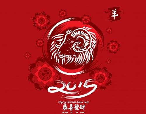 Attachment file of Gong Xi Fa Cai 2015 Wallpaper Goat Year - Chinese New Year