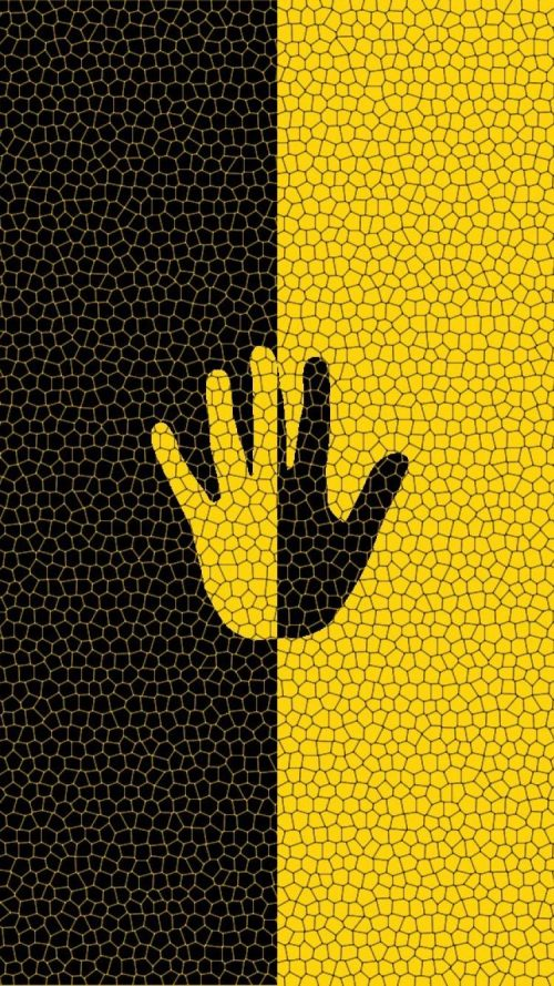 Artistic Yellow and Black iPhone Background for iPhone 7 and iPhone 6s