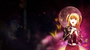 Best Anime Backgrounds with Girl Character - Misa Amane Death Note with Beautiful style