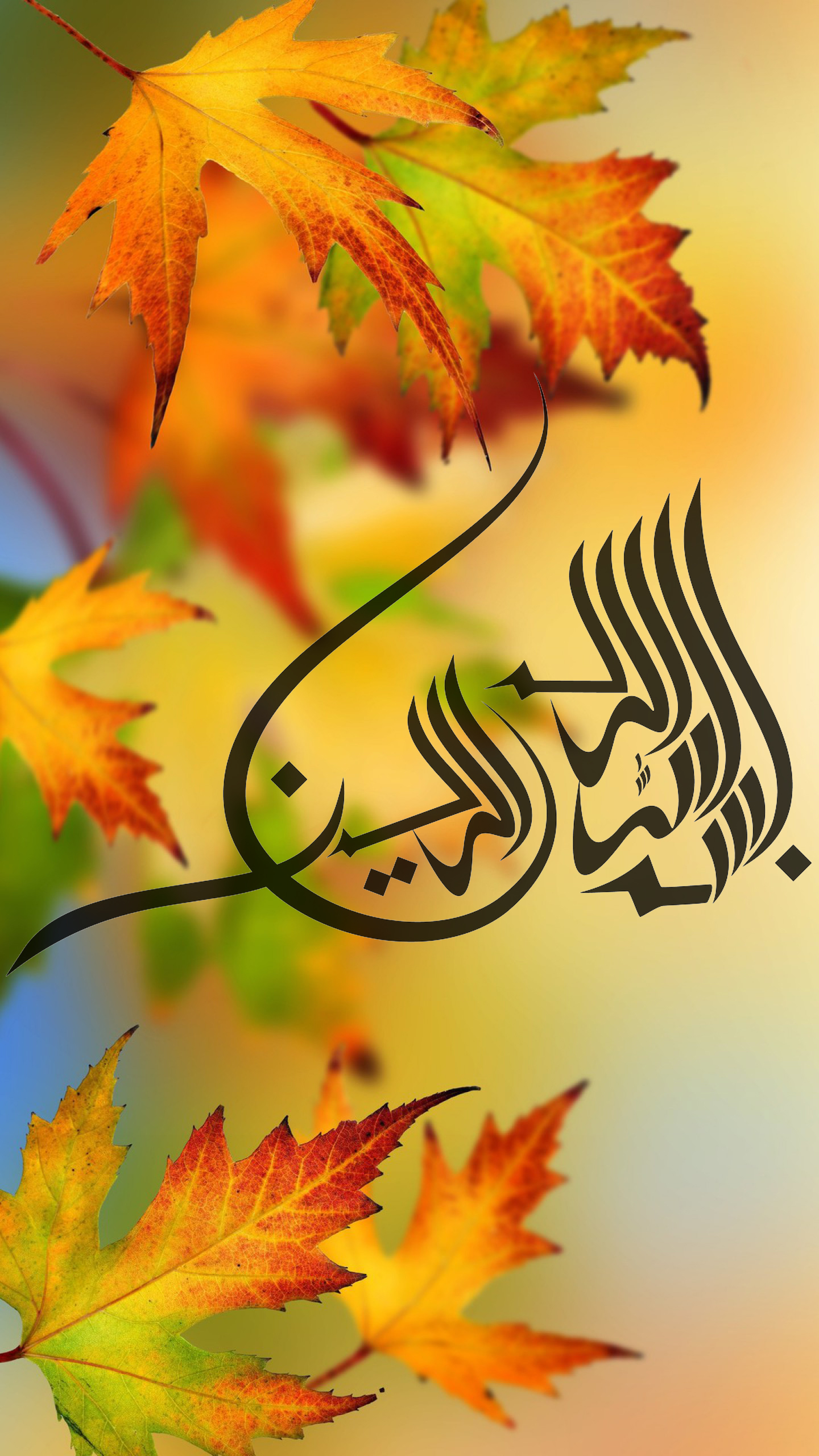 Best Islamic Wallpaper For 5 Inch Mobile Phone 2 Of 7 Bismillah In Autumn Background Hd
