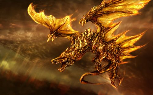 Attachment file for Dragon Wallpaper 2 of 23 - Gold Dragon