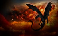Attachment file for Dragon Wallpaper 6 of 23 - Flying Dragon