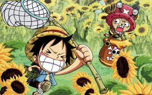 Attachment file for Funny One Piece Wallpaper - Luffy and Tony Tony Chopper