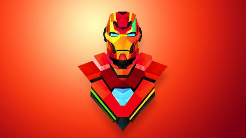 Attachment for Artistic Iron Man Wallpaper in Abstract Art