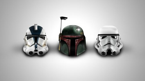 Star Wars Wallpaper 4 of 23 - Trooper and Boba Fett Helmet