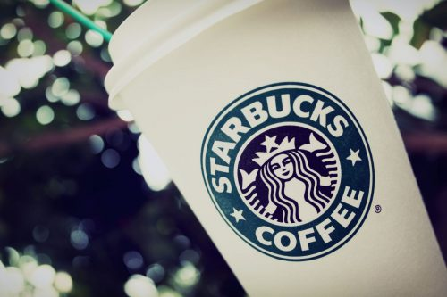 Starbucks Wallpaper with Cup CLose Up Photo in HD
