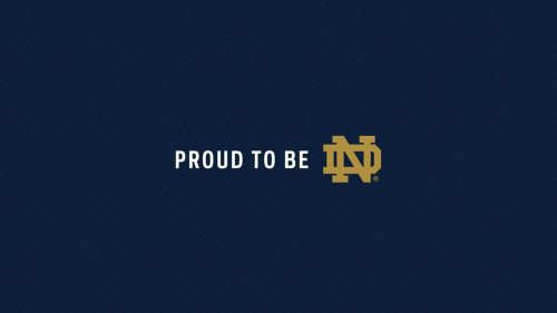 File attachment for Blue Logo of Notre Dame with text - Proud to be ND
