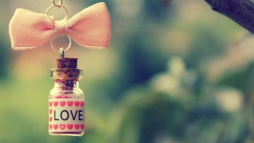 Attachment for 37 Cute Stuff Wallpapers - Love in Bottle